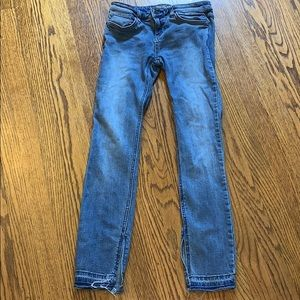 Free People Frayed Ankle Skinny Jeans